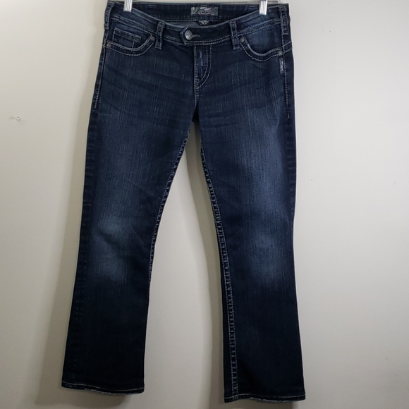 Silver Tuesday 16 1/2  Boot Cut Blue Jeans Size 30